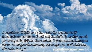 Telugu Bible Quotes wallpaper on Word of God 3